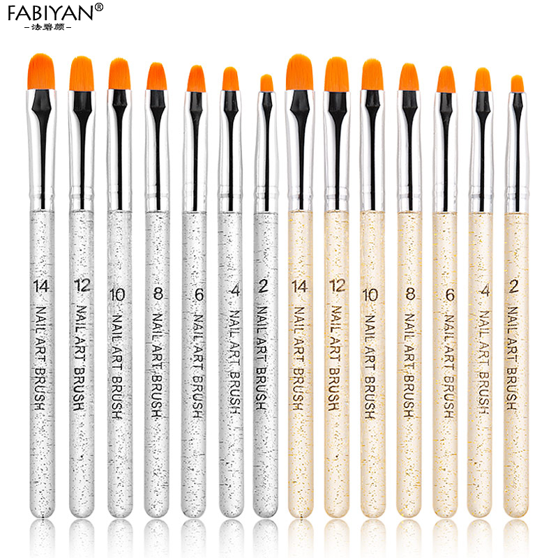 7 шт., профессиональная маникюрная УФ-гелевая ручка, прозрачная акриловая кисть для рисования ногтей, инструменты для фототерапии