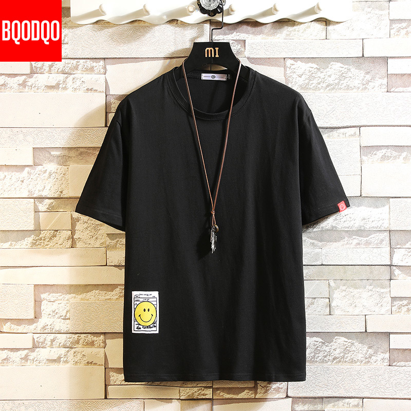 2019 T Shirt Men Fashion T-shirt Streetwear Male Tees Casual Japanese Summer Short Sleeve O-neck Oversized Cotton Fashion Tshirt