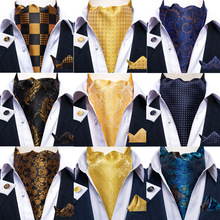 Silk-Tie-Set Ascot-Tie Paisley Wedding Luxury Cravat Floral Party Dibangu Vintage Gentleman