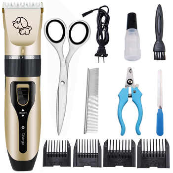 Electrical Pet Hair Trimmer Rechargeable Low-noise Cat Dog Hair Clipper kit Remover Cutter Grooming Pets Accessories Haircut - Category 🛒 Home & Garden