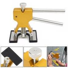 Kit de reparación de abolladuras sin pintura para coche, extractor de abolladuras con pegamento, Kit de eliminación de lengüetas con esteras para vehículo