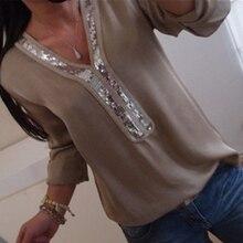 Women Sexy V-neck T-Shirt Casual Long Sleeve Stitching Top Autumn Solid Loose T-Shirts Plus Size виктор тихонов нашироте владивостока