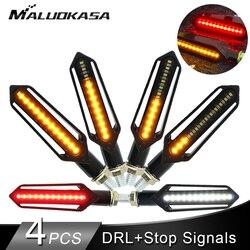 Motorrad Blinker Rücklicht LED Fließende Wasser Blinkende Blinker Bremse/Laufen Licht DRL Flasher Schwanz Lampe für Honda