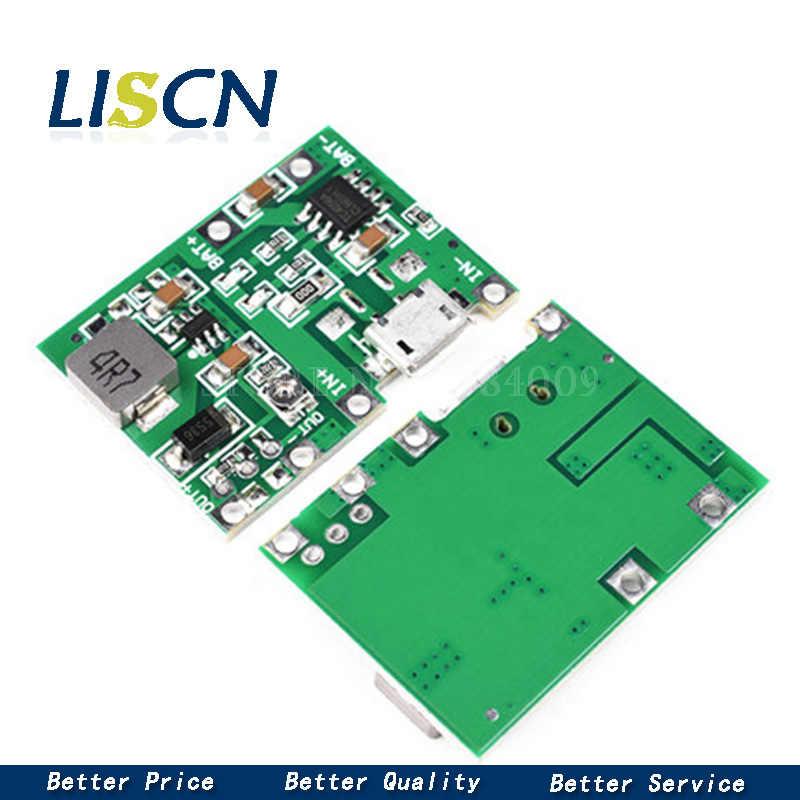ליתיום ליתיום 18650 3.7V 4.2V סוללה מטען לוח DC-DC שלב עד Boost מודול TP4056 DIY ערכת חלקים