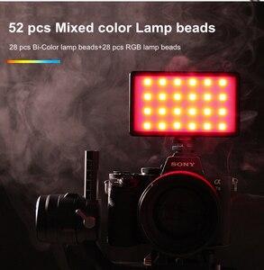 Image 2 - Weeylite RB08 RB08P RGB 2500K 8500K מיני וידאו LED אור מילוי אור מובנה סוללה עבור טלפון מצלמה ירי סטודיו