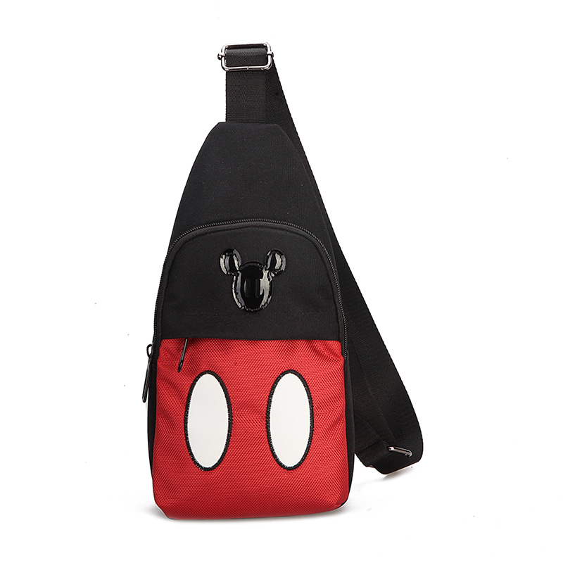 Disney Kids Mickey Mouse Minnie Plush Bags Chest Coin Purse Student Shoulder Bag  Backpack Mouse Cartoon Cute Baby  Gift