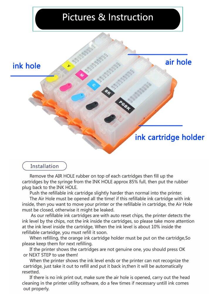 10SETS PGI 450 PGI450 Refill Cartridge For Canon PIXMA IP7240 MG5440 MG5540 MG6440 MG6640 MG5640 MX924 MX724 IX6840 printer-in Ink Cartridges from Computer & Office    3