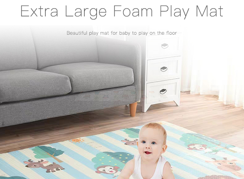 Ha455790547cd4b1789104eb2f43cd3ceu Miamumi Portable Baby Play Mat XPE Foam Double Sided Playmat Home Game Puzzle Blanket Folding Mat for Infants Kids' Carpet Rug