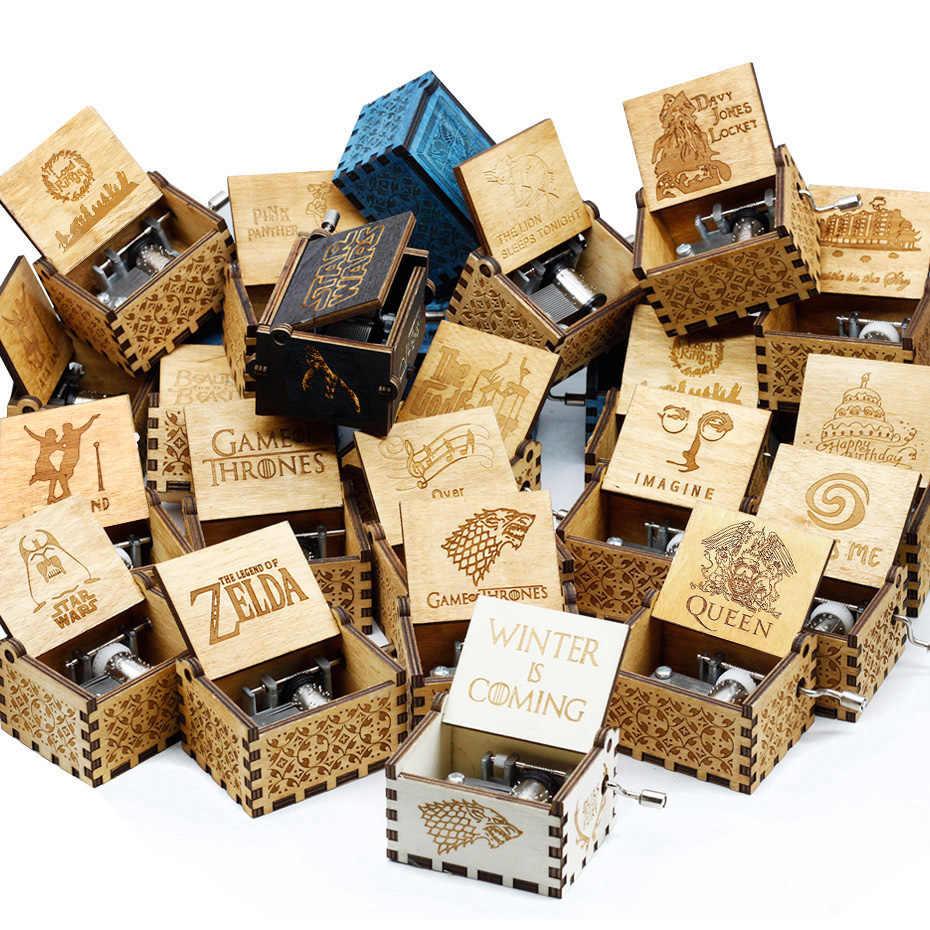 ใหม่พจนานุกรม CASA DE PAPEL Bella CIAO เพลงกล่อง QUEEN เกมบัลลังก์เพลงโบราณแกะสลักไม้มือคริสต์มาสของขวัญวันเกิดของขวัญ