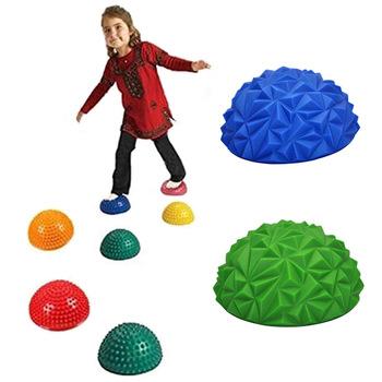 Równowagi kamienie gry dla dzieci dla dzieci Durian ananas piłka do masażu integracja sensoryczna zabawki tanie i dobre opinie muddy Puddles CN (pochodzenie) RUBBER Not Eat BHLL-065 Do rozwijania umiejętności chwytania poruszania się 16cm Hemisphere Ball