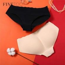 FINETOO – culotte rembourrée pour femmes, sous-vêtement moulant, sans couture, fesses, hanches, Push-Up, Sexy, pour dames