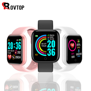 D20 Bluetooth Smart Watches Men Waterproof Sport Fitness Tracker Smart Bracelet Blood Pressure Heart Rate Monitor Y68 Smartwatch