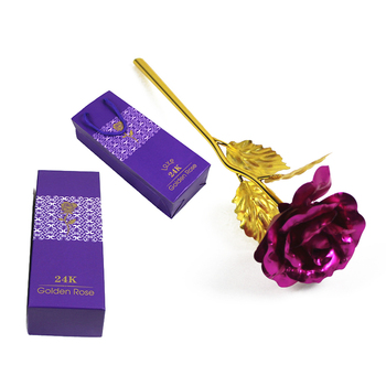 24K Plated Rose Flower Valentines Day Gift Birthday Romantic High Quality 1