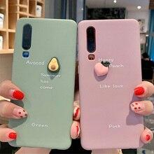 Cartoon 3D Avocado Phone Case For Huawei P30 Pro P20 Mate 20 Nova 4 5i Honor 10 20 8X 9X Soft TPU Silicone Cover Fundas