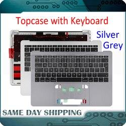 Серебристо-серый чехол для Macbook Pro Retina 13 A1706 A1708 15 A1707 с клавиатурой US UK Французский Немецкий Русский Испанский Датский