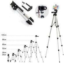 Mini aparat statyw stojak uchwyt 3110 aluminium profesjonalny statyw teleskopowy Monopod dla iPhone Samsung SmartPhone Action Camera