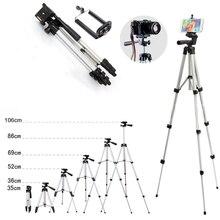 Mini caméra trépied support 3110 aluminium professionnel télescopique trépied monopode pour iPhone Samsung SmartPhone Action caméra