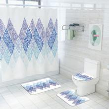 Напольный коврик для ванной базовый унитаза занавеска душа 3d
