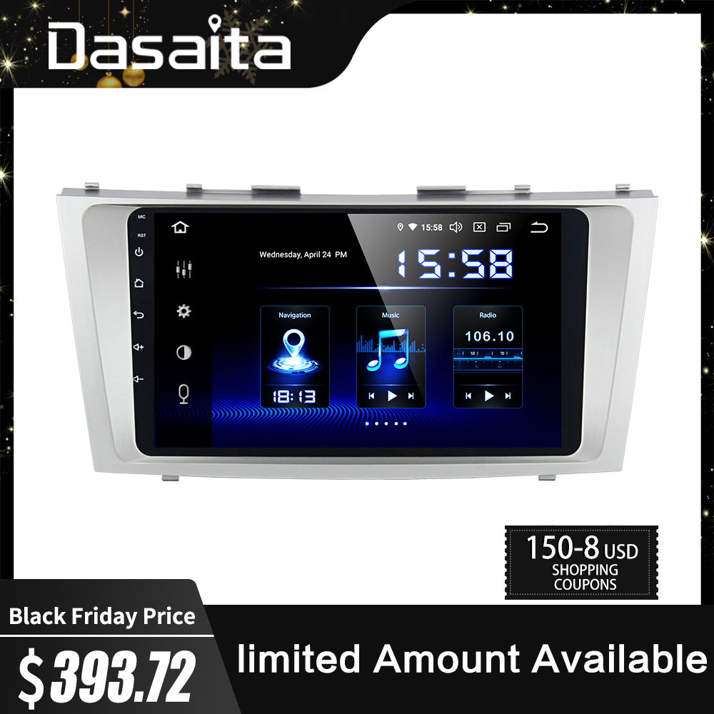 Dasaita 9 Car Android 9.0 Autoradio for Toyota Camry 2006 2007 2008 2009 2010 2011 GPS Navigation 1080P Video Stereo 64GB ROM image