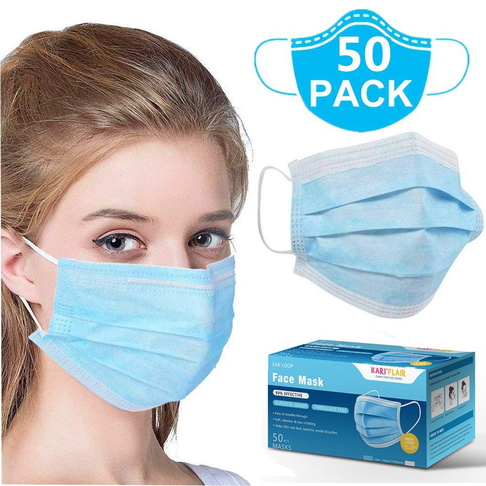 10pcs Personal Disposable Face Medical Masks 마스크 3 Ply kf94 Non 