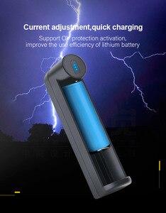 Image 2 - PHOMAX светодиодный интеллектуальный индикатор с 1 слотом, быстрая зарядка 18650 IMR/li ion AA AAA 16340 18700 17650 3,7 4,2 В, зарядное устройство для аккумуляторных батарей