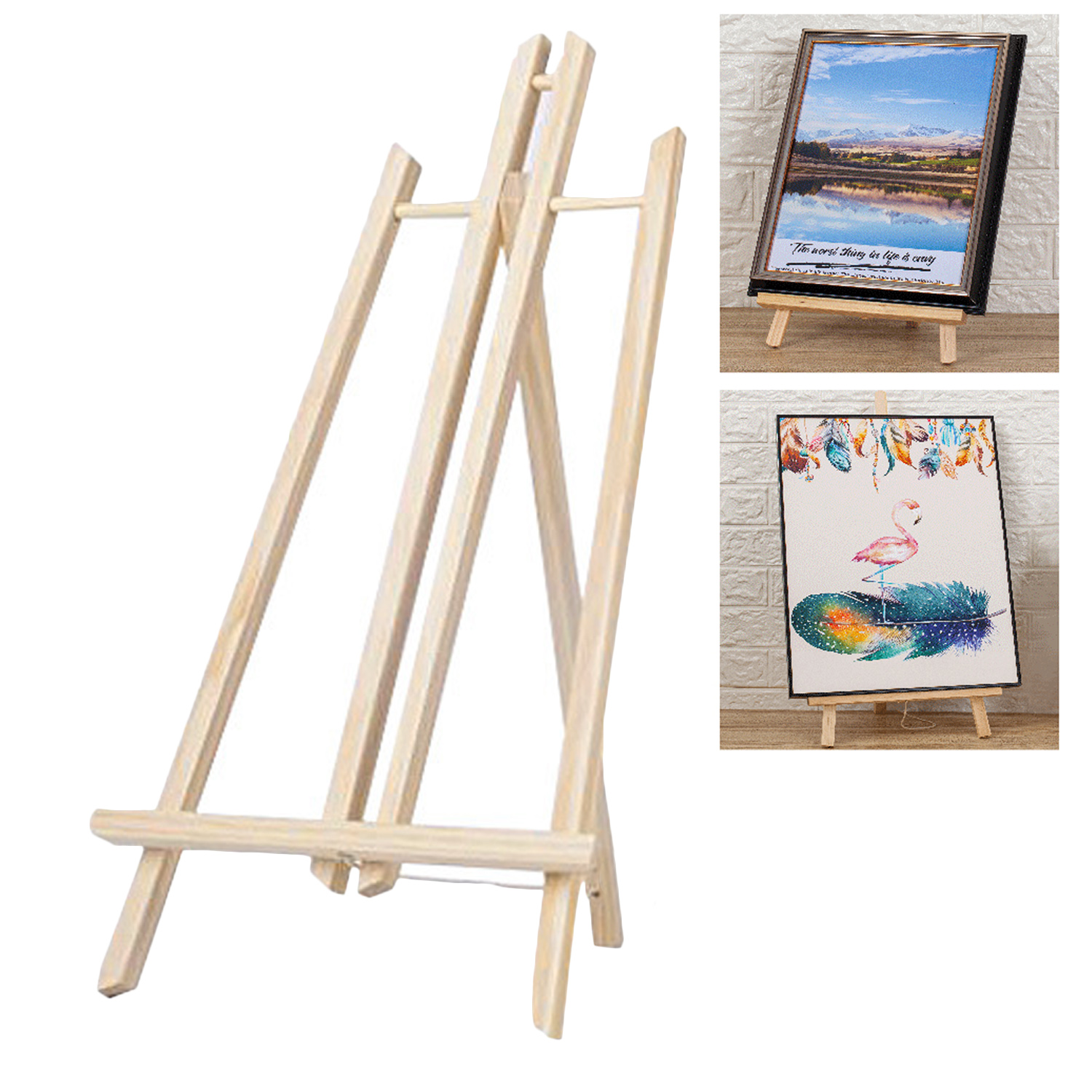 30/40/50cm Portable Wooden Easel Display Shelf Holder Stand for Artist Painting Sketching DIY Arts Photo Cards Displaying