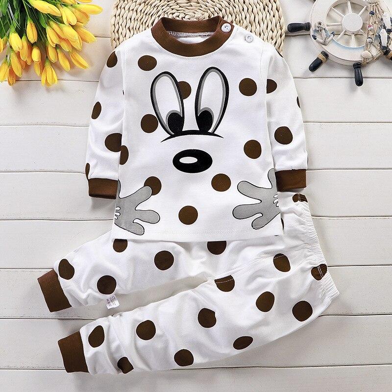 Kinder Cartoon Bär Hund Nachtwäsche Baby Kleidung Sets Herbst Tier Pyjamas Baumwolle Nachtwäsche Jungen Mädchen Pijamas Sets Kind Kleidung