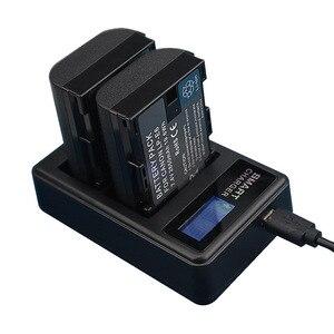Image 1 - LP E6 LP E6 LPE6 Batteria A CRISTALLI LIQUIDI del USB Doppio del Caricatore Per La Macchina Fotografica Canon EOS 5D Mark II 2 III 3 6D 7D 60D 60Da 70D 80D DSLR EOS 5DS lp e6