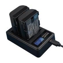 LP E6 LP E6 LPE6 batería USB LCD cargador Dual para cámara Canon EOS 5D Mark II 2 III 3 6D 7D 60D 60Da 70D 80D DSLR EOS 5DS lp e6