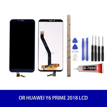 Original LCD Display For Huawei Y6 Prime 2018 LCD Display Touch Screen Panel Digitizer Assembly With Frame 5.7inch+tool original 1024 768 onyx boox c63ml reader daily edition display with backlight ebookreader lcd panel touch digitizer