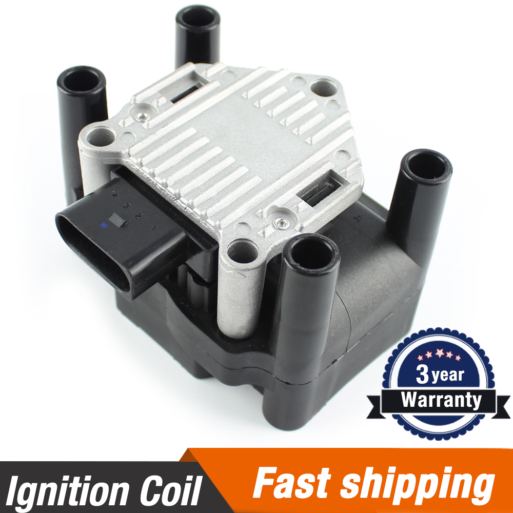 Ignition Coil For VW Beetle Golf Jetta L4 2.0 1998-2001 AUDI A2 A3 A4 1996-2005 Skoda Seat 032905106 032905106B 032905106D