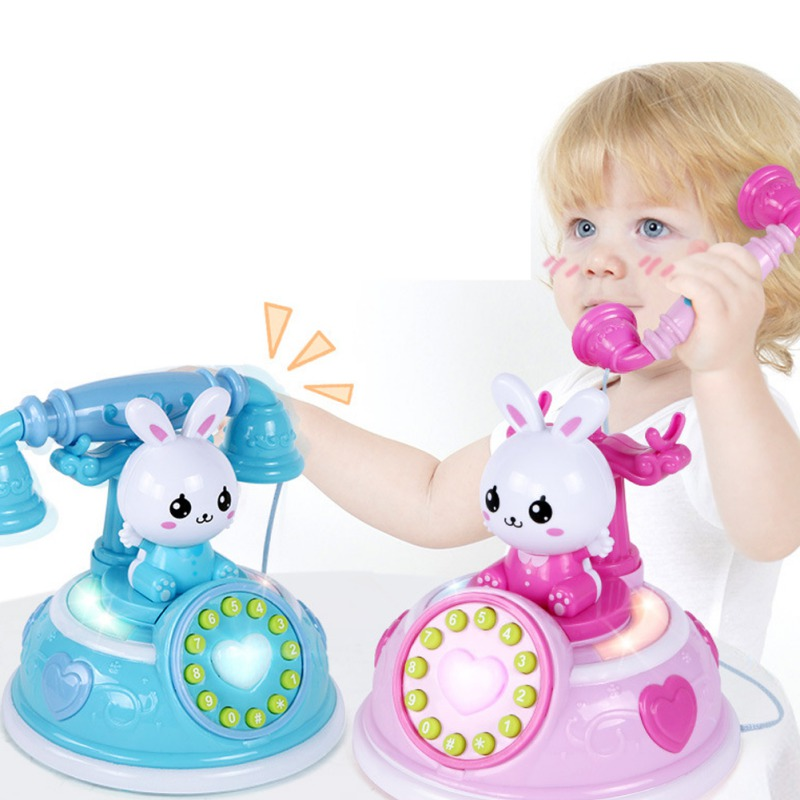 NEW Child Kids Telephone Toy Smart Phone With Light Music Pretend Play Toys Baby Education Birthday Gift 1PC