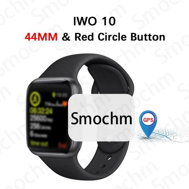 Smochm IWO 10 بلوتوث ساعة ذكية سلسلة 1:1 IWO 8 Plus IWO 9 تحديث لتحديد المواقع المقتفي الرياضة ساعة ذكية لابل آيفون أندرويد