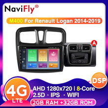 Autoradio Dacia Android10 Multimedia Video-Player Navigation Gps Renault Logan Navifly