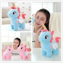 Cute angel unicorn doll pony plush toy girl pillow ins