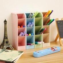 купить Four Grid Storage Creative Multifunction Organizer Bathroom Desktop Pen Holder Stationery Organizer Jewelry Makeup Organizer по цене 214.28 рублей