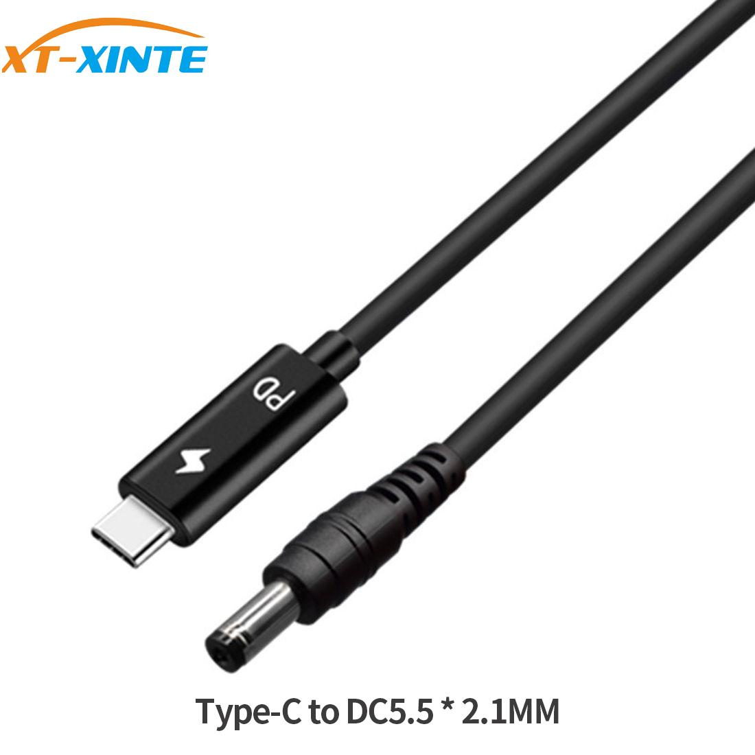 USB 3.1 TYPE C To DC 5.5*2.1 / 4.8*1.7 Male To Male Laptop Charger DC Jack Power Adapter Cable 1.5M Decoy Trigger PD Charging