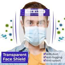 10 قطعة درع الوجه واقية شفافة قناع الوجه مكافحة الضباب مكافحة قطرات قناع انفصال قابل للتعديل 180 درجة قناع الحماية غطاء