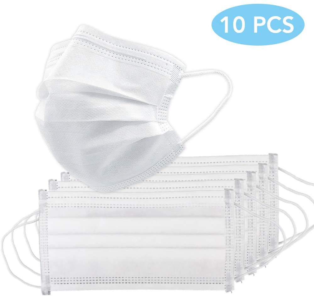 5/10/20/50/100pcs Color Random Non-woven Fabric Disposable Mouth Mask Anti-dust Single-use Face Mask