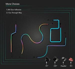 Image 5 - PHANTEKS Combo ışık şeridi ARGB Neon bilgisayar kasası dekorasyon LED şerit 5V 3PIN ışık başlığı AURA 400mm X 2 adet