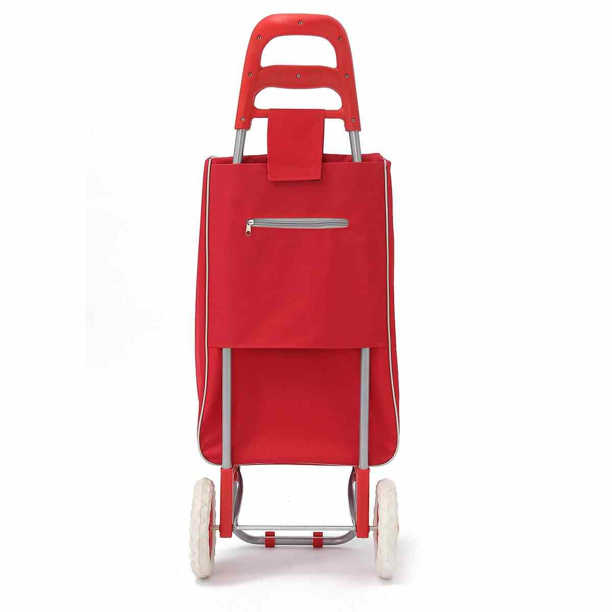 45l dobrável carrinho de compras saco sobre rodas empurrar tote carrinhos carrinho carrinho cesta bagagem rodas oxford tecido floding