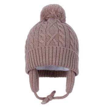 Fashion Baby Girls Boys Winter Autumn Warm Earmuffs Hat Children Caps Beanie Fur Pompon Hats Unisex Kids Knitted Hats 1-5Years