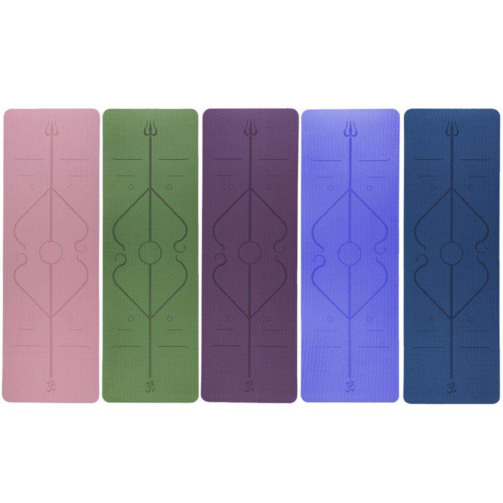 Non-Slip TPE Yoga Mat With Position Line 2