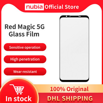 Wholesale Original Nubia RedMagic 5G Glass Film Protect Phone Screen Full Screen Glass Film Black Nubia RedMagic 5S Glass Film