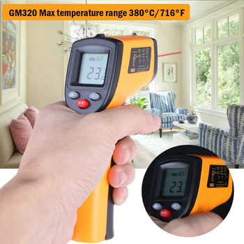 Digital GM320 Infrared Thermometer Non Contact Infrared Thermometer Pyrometer IR Laser Temperature Meter -50~380C gm900 non contact lcd ir infrared thermometer digital temperature meter 50 to 900 degree pyrometer surface temperature test