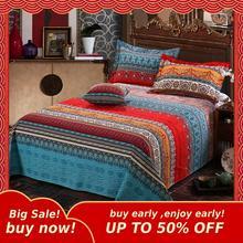 MIHE Juego de ropa de cama Retro bohemio, edredón con Mandala, ropa de cama de invierno, funda de almohada, colcha de cama King Size
