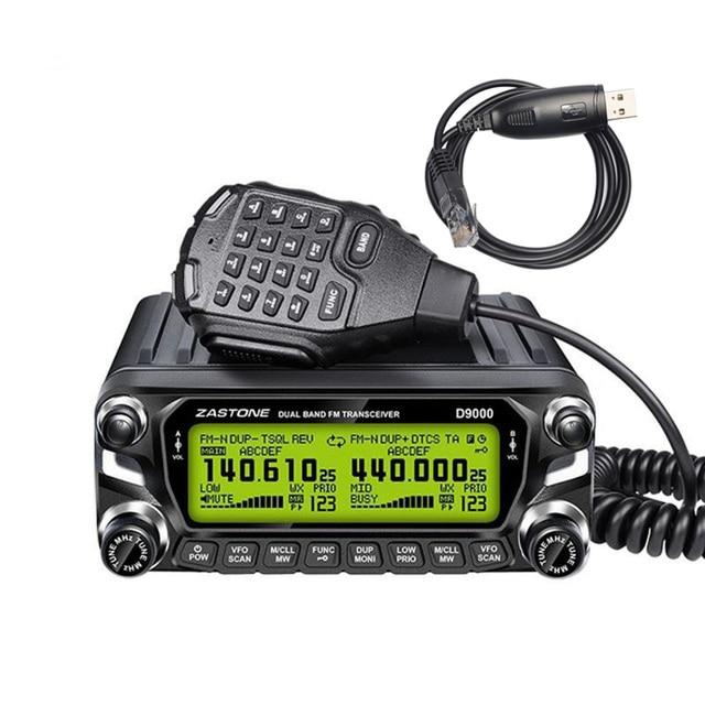 Zastone D9000 Car walkie talkie Radio Station 50W UHF/VHF 136-174/400-520MHz Two way radio Ham HF Transceiver 1