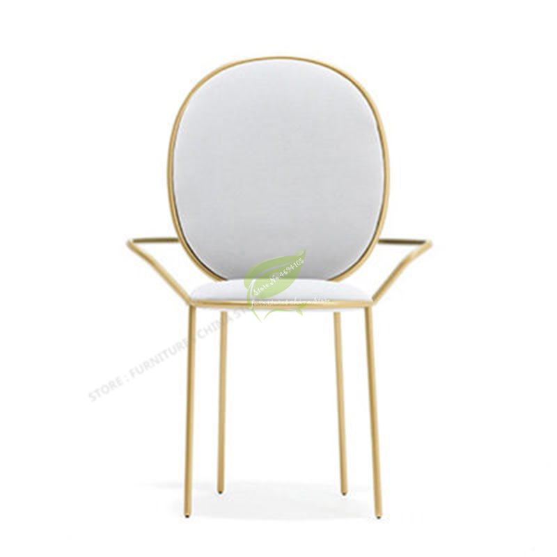Nordic Ins Gold Metal Chair Modern Dining Chair Simplicity Restaurant Chairs Minimalist Bar Chair Makeup Chair Armchair Cheap