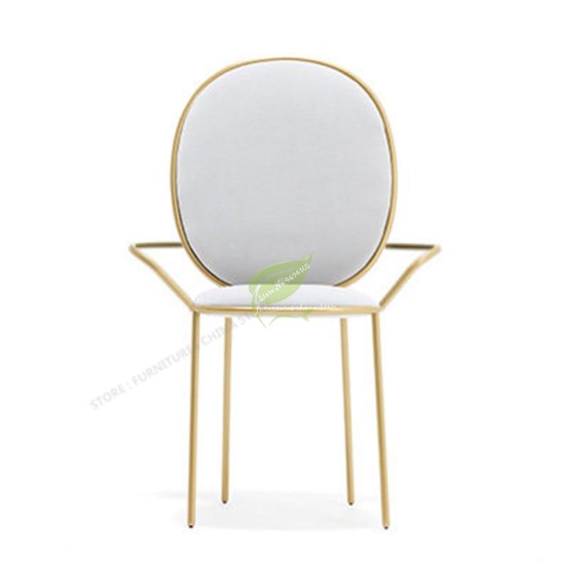 Nordic Ins Gold Metal Chair Modern Dining Chair Simplicity Restaurant Chairs Minimalist Bar Chair Makeup Chair Armchair Cheap