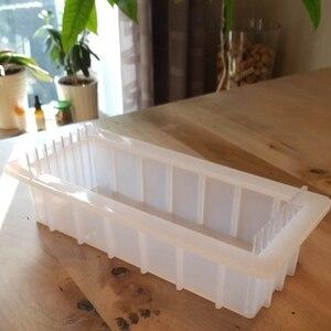 Image 5 - Formy silikonowe do mydła z przezroczystą pionową akrylową klapą biały prostokątny bochenek formy